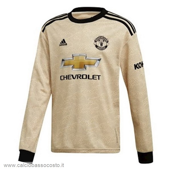Away Manica lunga Manchester United 2019 2020 Lucee Kit Calcio